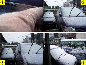 東京の初雪!