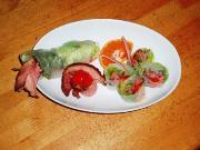 ローストビーフサラダの生春巻き